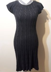 Calvin Klein Fitted Short Sleeve Sweater Dress